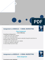 Email Marketing Assignment