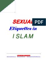 English SEXUAL Etiquettes in ISLAM