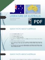 Literature of Australia Report