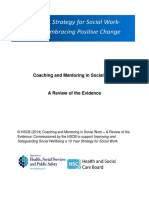 Coaching and Mentoring in Social Work-Review of the Evidence