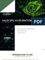 GTC19 Kaldi Acceleration
