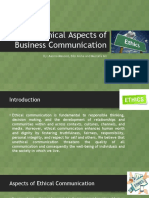 Ethical Aspects of Business Communication