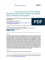 Wireless Sensor Networks for Water Quality