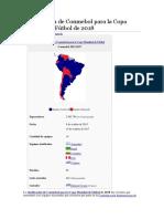 Clasificación de Conmebol Para La Copa Mundial de Fútbol de 2018
