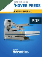 Hotronix Clam Hover Press Operators Manual
