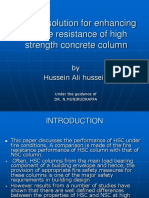 Design Solution for Enhancing the Fire Resistance of High Strength Concrete Column