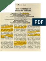 Jauss, Hans Robert - Estética de La Recepción y Comunicación Literaria [Art.]