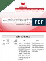 Insightsias Test Schedule 1-3