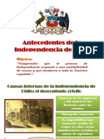 ANTECENTES INDEPENDENCIA CHILE