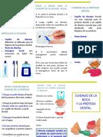 Cuidado de La Boca y La Prótesis Dental