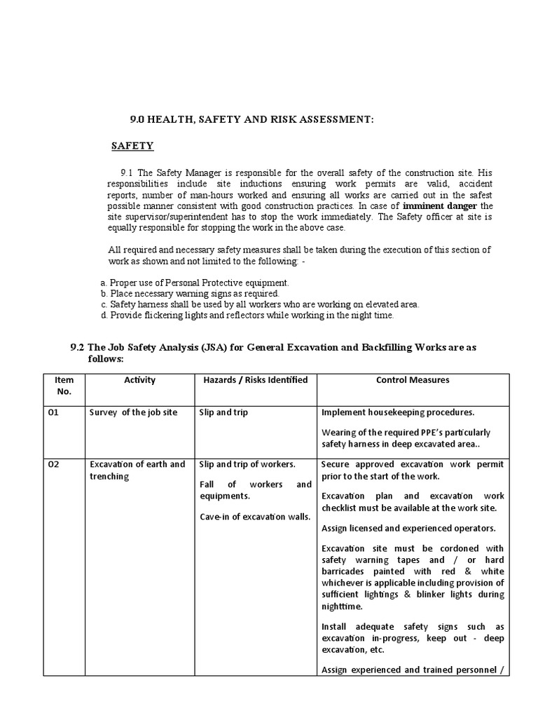 Job Safety Analysis Template Free Resume Templates – Job Site Analysis Template