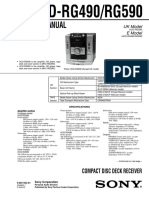 9553 Sony HCD-RG490 RG590 Sistema de Audio CD-casette Manual de Servicio