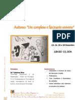 Folheto de divulgação de Formação em Autismo