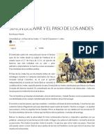 Simón Bolívar y El Paso de Los Andes