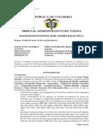 73001–23–00–000–2011–00611-00 Popular Personería de Ibagué - Nación - MinAmbiente y O. - Protege derechos colectivos y ordena medidas