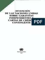 Convencion Naciones Unidas Garantias Independientes y Cartas de Credito (No Firmada Por Arg)