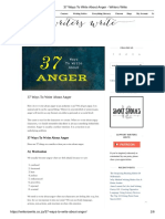 37 Ways to Write About Anger - Writers Write