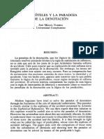 Aristóteles y La Paradoja de La Detonación