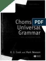 Chomsky's Universal Grammar