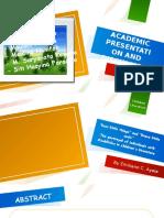 Academic Presentation; CHILIT 2.1