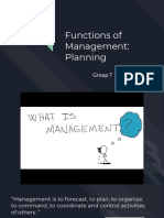 7 Functions of Management-Planning