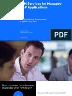 IBM Services for Managed SAP Application - Jakarta 25th April 2019