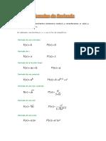 Fórmulas de Derivada
