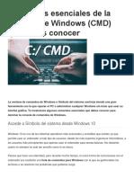 Comandos esenciales de la consola de Windows