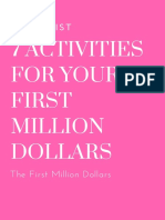 Checklist 7 ACTIVITIES for YOUR First Million Dollars