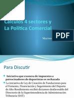 Clase 14.  calculos 4 sectores y  Política Comercial