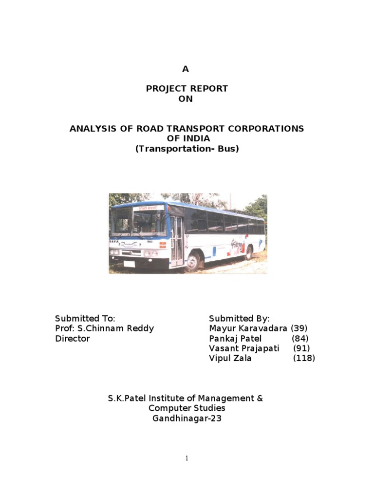 Analysis of Transportation (BUS)   Transport   Technology