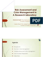 2 Singh Risk Assessment and Crisis Management in a Research Lab