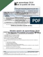 Modelo de Sesion El Mesias Prometido Al Pueblo de Dios Por Desempeños 2019