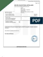 Certificado de Avalúo Fiscal Detallado 810-41 PRIMER SEMESTRE 2019