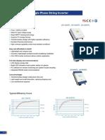 Jfy Jsi Series Solar Inverter Datasheet 1