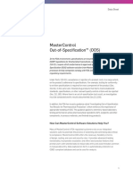 Mastercontrol Out of Specification