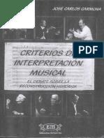 Criterios de Interpretación Musical - Carmona