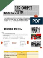 Habeas Corpus Instructivo - Desapariciones forzadas.