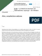 Arte y Arquitectura Aztecas _ Www.elhistoriador.es