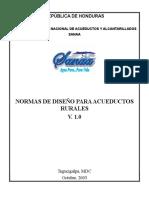 Normas de Diseño Para Acueductos Rurales