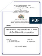 Traitement Des Eaux Usées Urbaines de Ain Defla Par l'Électrocoagulation