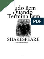 Shakespeare Tudo Bem Quando Termina Bem