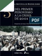 Del primer peronismo a la crisis de 2001 - Historia de la Provincia de Buenos Aires