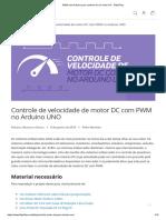 PWM Com Arduino Para Controle de Um Motor DC - FilipeFlop