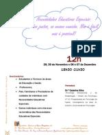 Folheto de Divulgação de Formação em NEE