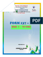 Cover Form 137.