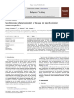 Spectroscopic Characterization of Linseed Oil Based Polymer Nano-composites