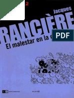 RANCIÈRE JACQUES - El Malestar en La Estética