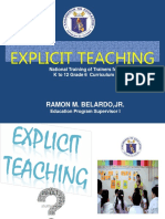 NTOT Grade 6 Explicit Teaching