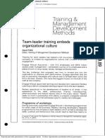 Team-leader Training Embeds Or
